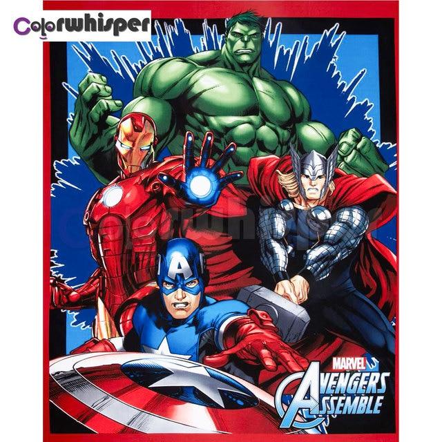 Teklif Elmas Boyama Tam Kare Yuvarlak Animasyon Avengers Demir