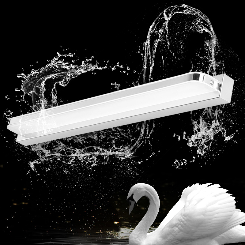 Round Angle Length 58cm 9W mirror lamp European-style Simple modern creative LED wall lamp bathroom bedside AC90-260V SMD5730