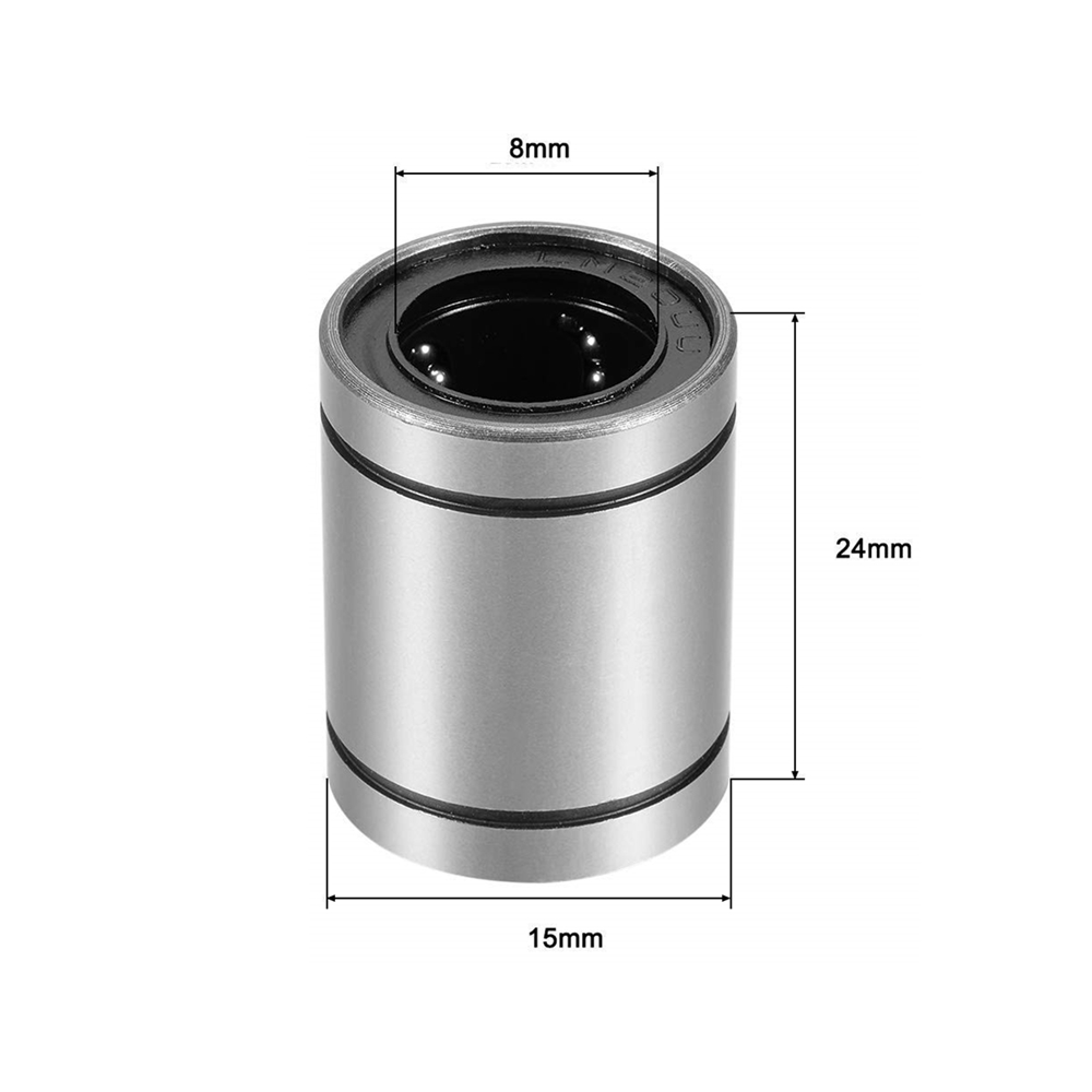 LM8UU  Linear Bushing 8mm CNC Linear Bearings For Rods Liner Rail Linear Shaft Parts