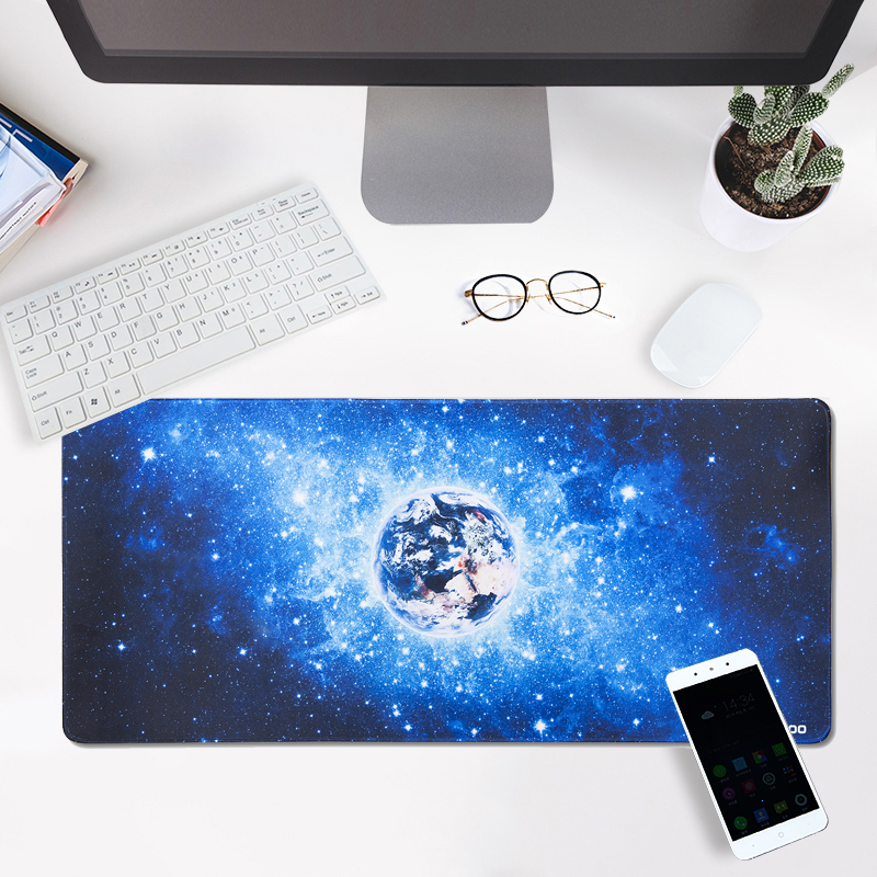 JIALONG Large Size Blue Sky Extender Gaming Pad Anti-slip Rubber Speed Gaming Mouse Pad Double Weave Fabric Gaming Mouse Pad Mat beautiful design non slip rubber gaming oblong mouse pad