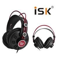 New ISK HP 580 Original Headphone Semi open Dynamic Stereo Monitoring Earphone DJ Headset Noise Cancelling Headphone Auriculares