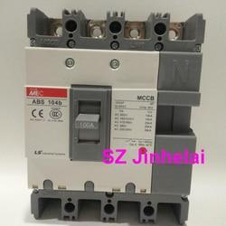 ABS104b подлинный оригинальный ABS 104b LS литой корпус автоматический выключатель ABS-104B воздушный выключатель 4P 30A/60A/75A/100A