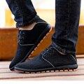 2017 Nuevo Más El Siz Hombres Zapatos Primavera/Verano Transpirable Zapatos Casual Hombres Zapatos de Lona Bajos de Cordones de Zapato Pisos Zapatillas Hombre 38-45