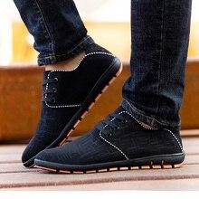 New Plus Size Men Shoes Spring/Summer Breathable Men Casual Shoes Low Laces Canvas Flat Shoes For Men Zapatillas Hombre 38-47