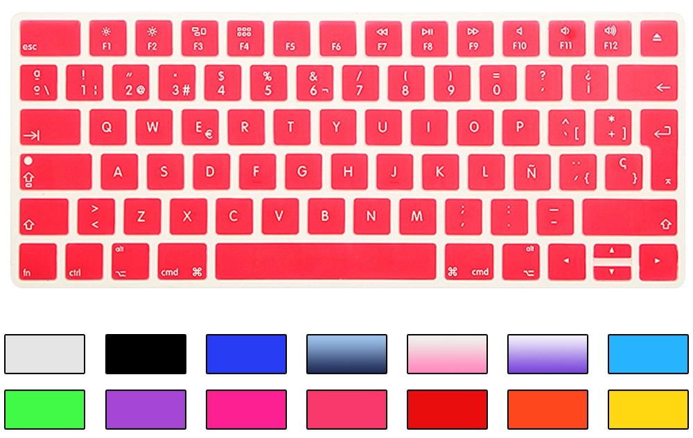 HRH Slim ESP Ispanijos klaviatūros viršelis Silikoninė oda Apple - Nešiojamų kompiuterių priedai - Nuotrauka 2