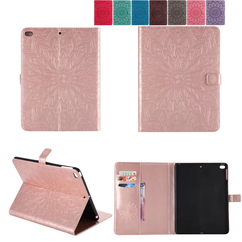 Sunflower Book Flip Case For iPad Air 1 2 Casual Smart Sleep Leather Stand Flip Cover For iPad Air 1 2 For iPad 5 6 Folio CASE
