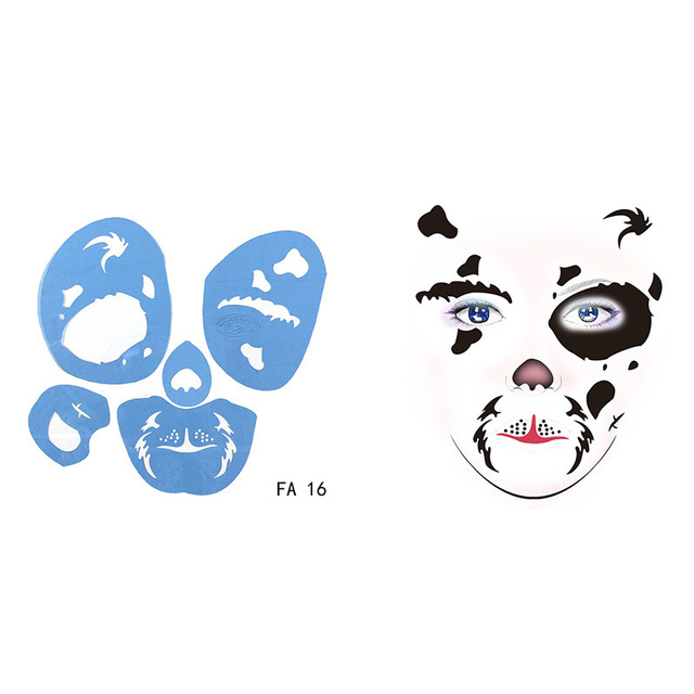 Reusable Soft Face Paint Stencil Animal Bloodsucker Body Template DIY Design Painting For Halloween Christmas Party Tattoo Make