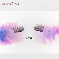 3D Magnetic False Fake Eyelashes Extension 4pcs Pair Easy To Wear Magnetic Eyelashes Makeup Soft Hair