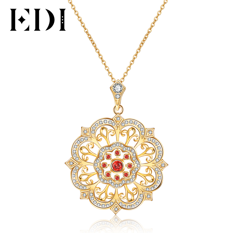 EDI S925 Sterling SilverTears Of The Sun Flower Natural Garnet Gemstone Pendant Necklace Chain Fine Jewelry For Women секция от моли с ароматом лаванды help