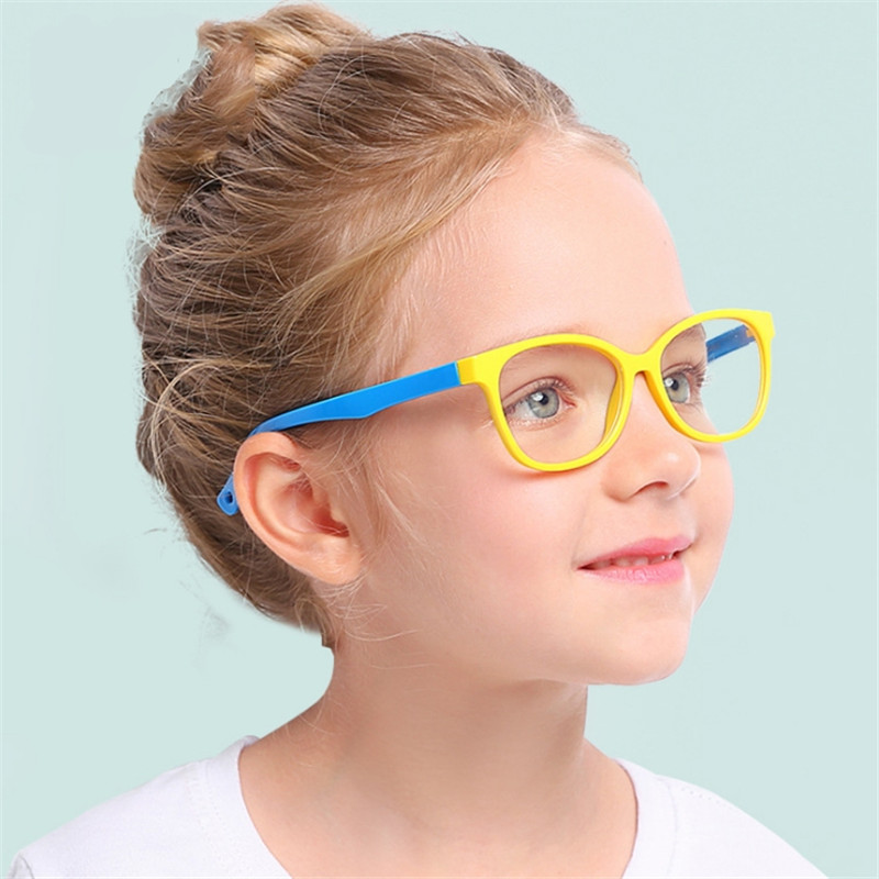 2019 Girls Boy Sunglasses Children Blue Light Blocking Glasses Retro Eyeglasses Kids Classic Rivet TR90 Frame Shades UV400 Z470