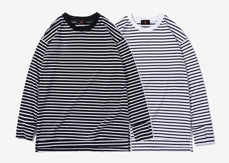 5 12 Yrs Teens Boys T Shirt Spring Autumn Kids Top Tees Long Sleeve Striped T shirt For Boys Cotton Casual Children 39 s Clothes in T Shirts from Mother amp Kids
