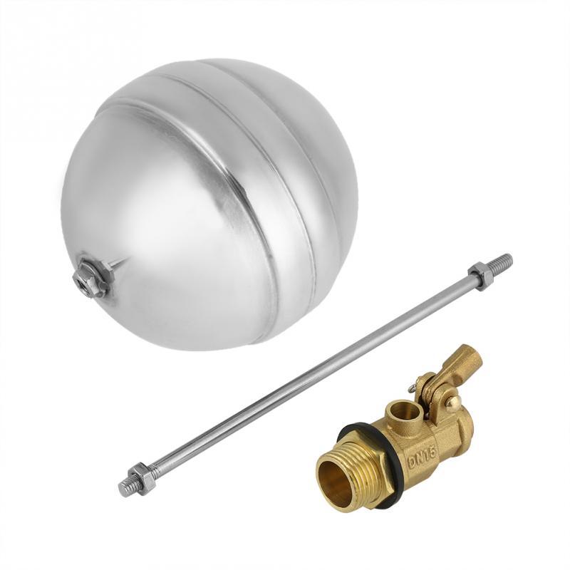 1 Stücke Dn15 Float Ball G1/2 Messing Außengewinde Wasser Float Ball Sensor Edelstahl Float Ball Wert Neue