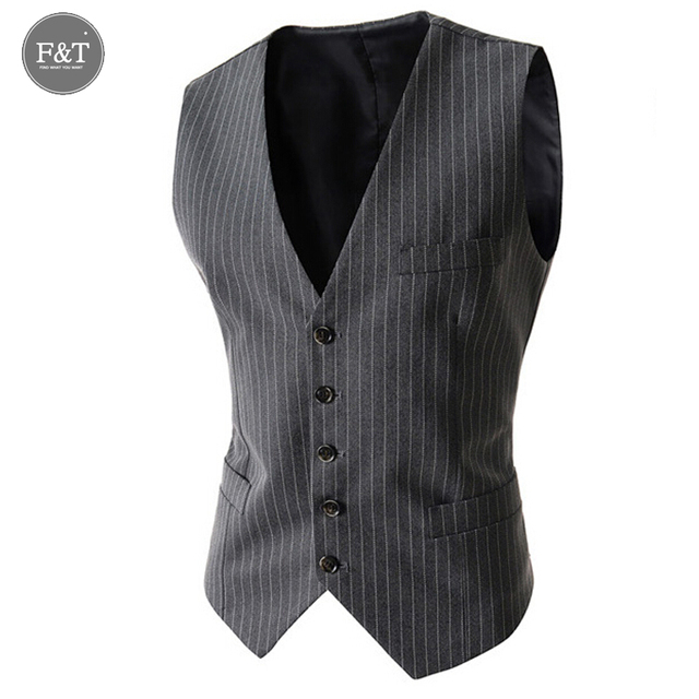 [Asian SizeDress Vests For Men Slim Fit Mens Suit Vest Slim Striped Printed  Sleeveless Formal Waistcoat Business Jacket