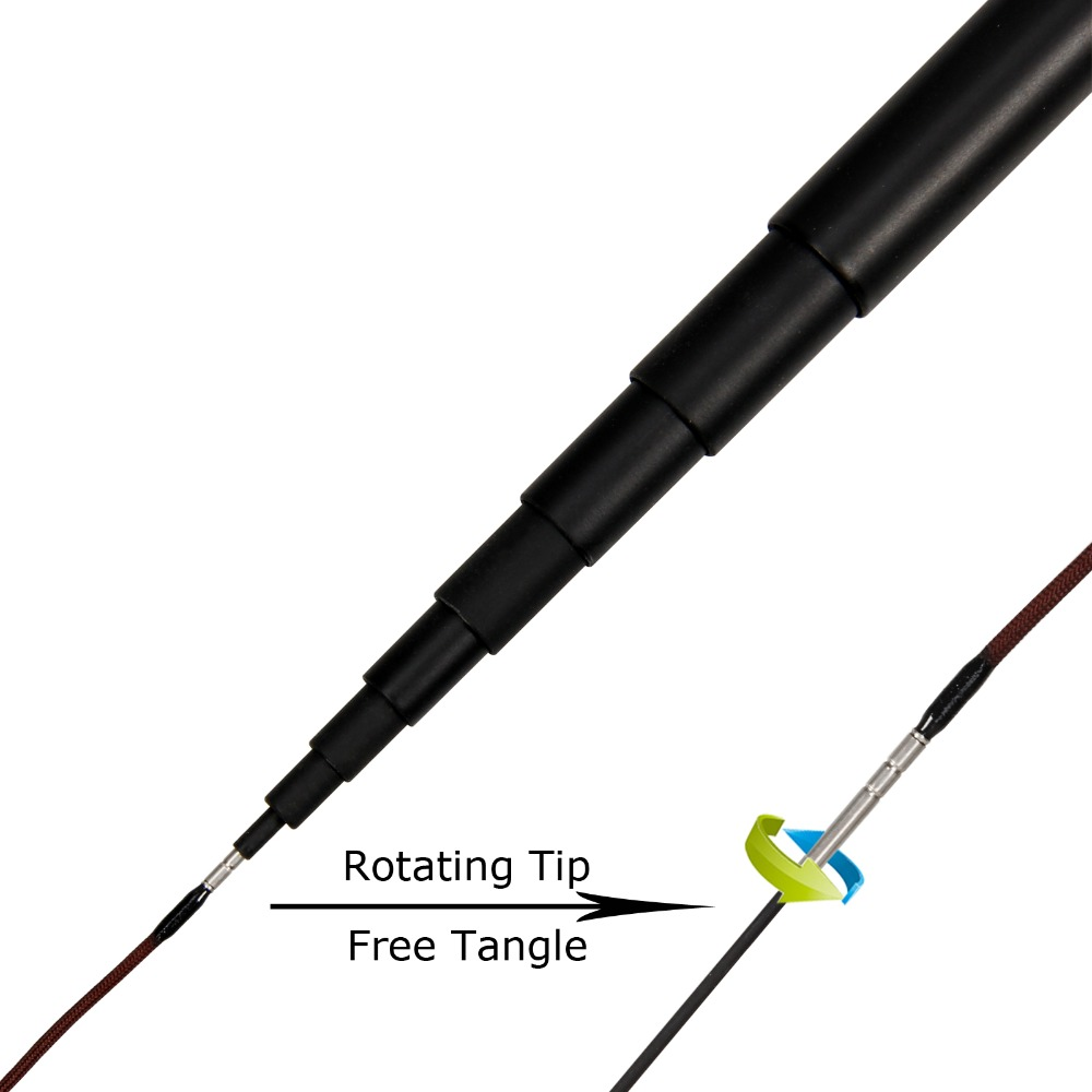 12 / 13FT Tenkara Fly Rod Telescoping Fishing Pole Carbon Fiber Fly - თევზაობა - ფოტო 2