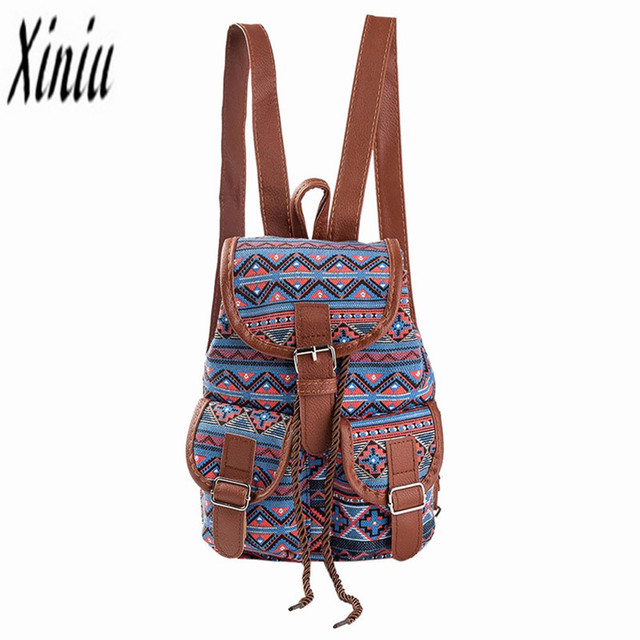 ad8537e656eb Women National Wind Printing Drawstring Backpacks Ladies Casual Girls  Shopping Backpack Female LeisureTravel La Mochila Saco