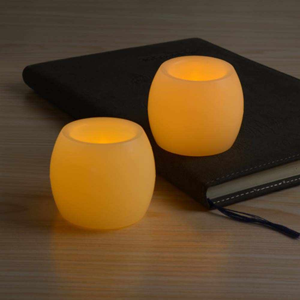 4 PCS Flameless Candles Wax Warm oval LED candle Flickering LED Battery power paraffin electronic Candle for Wedding decoration
