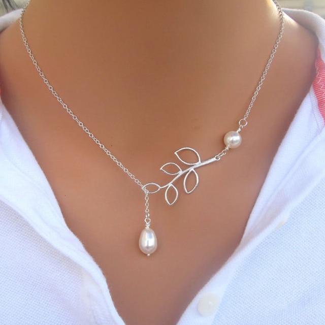 Delicate Bird & Leaf Shape Pendant Necklace 4
