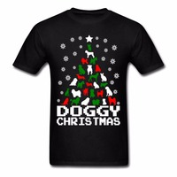 New Style Top Tee Online Shopping 100 Cotton Male Tees New Style Doggy Christmas Tree Man