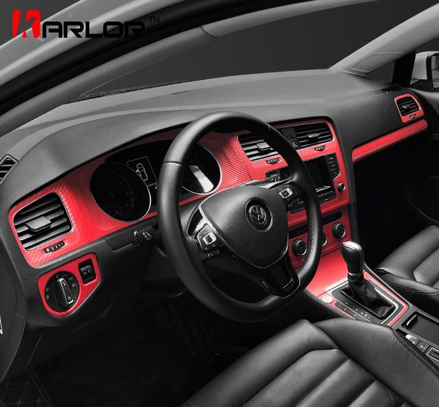 Interieur Sport Red Bescherming Carbon Stickers Fibra Decals Auto ...