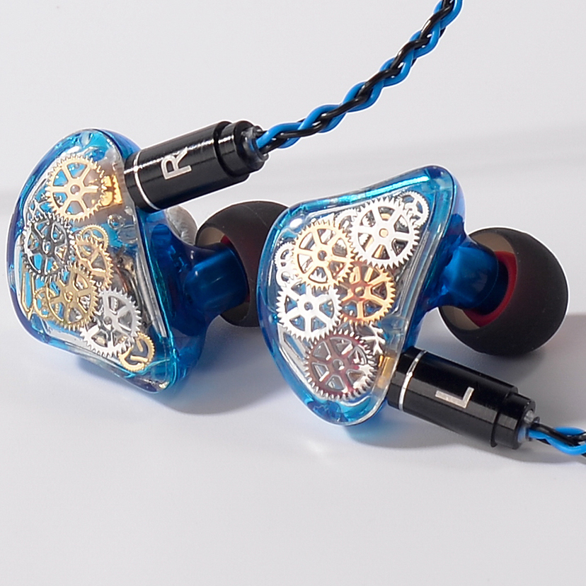 TONEKING TS5 4BA With 1 DD Custome Made in Ear Earphone Colorful Gear Custom Made Hybrid Around Ear Earphone With MMCX Cable 2016 senfer ue custom made around ear earphone hifi monitor earphone bass headset with mmcx interface cable as se215 ue900 se846