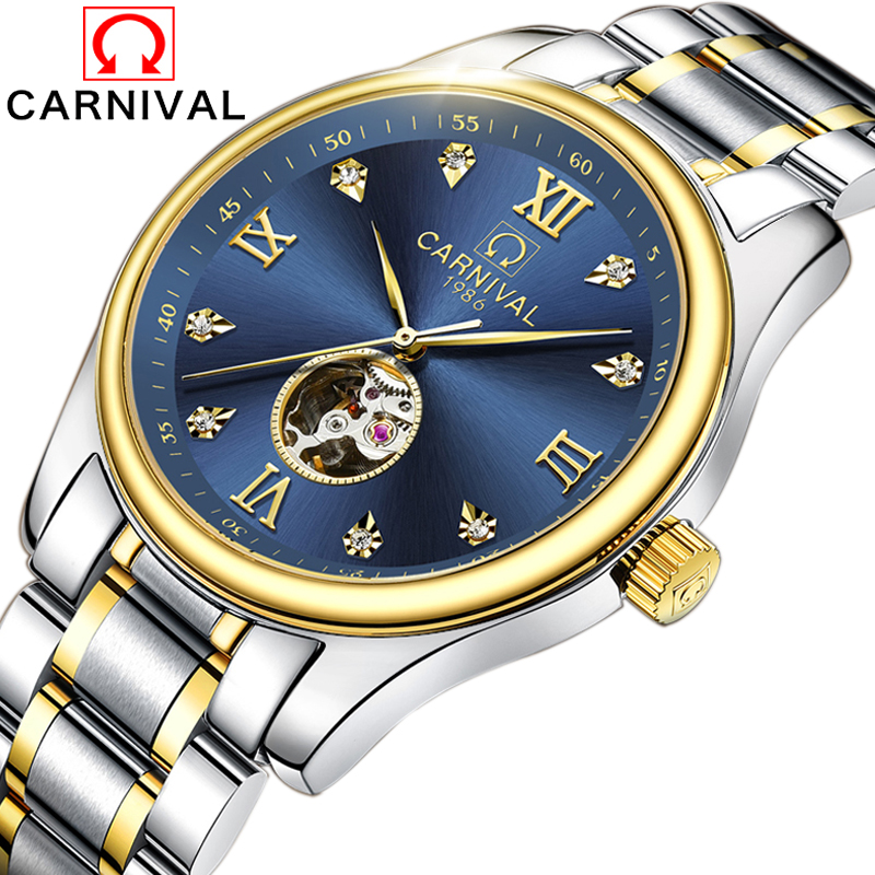 Здесь продается  Automatic Mechanical Watch Men Luxury Brand Mens Watches Sapphire Blue clock Full steel Luminous Waterproof relogio masculino  Часы