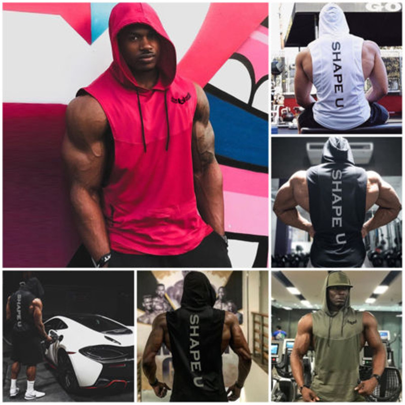 Hoodies Men Running Tank Top Men Vest Boxing Sportswear Sleeveless T Shirt Men Boxing Jerseys Muscle Training Vest Man'S T-Shirt