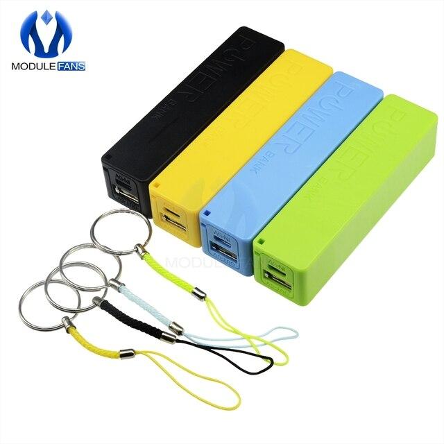 Azul verde amarillo negro blanco rosa banco de potencia USB caso Kit de cargador de batería 18650 DIY caja de bricolaje electrónica