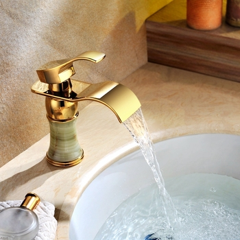 Single handle waterfall basin faucet copper single hole faucet bathroom faucet retro for Ti-PVD , Bathroom Sink Faucet фото