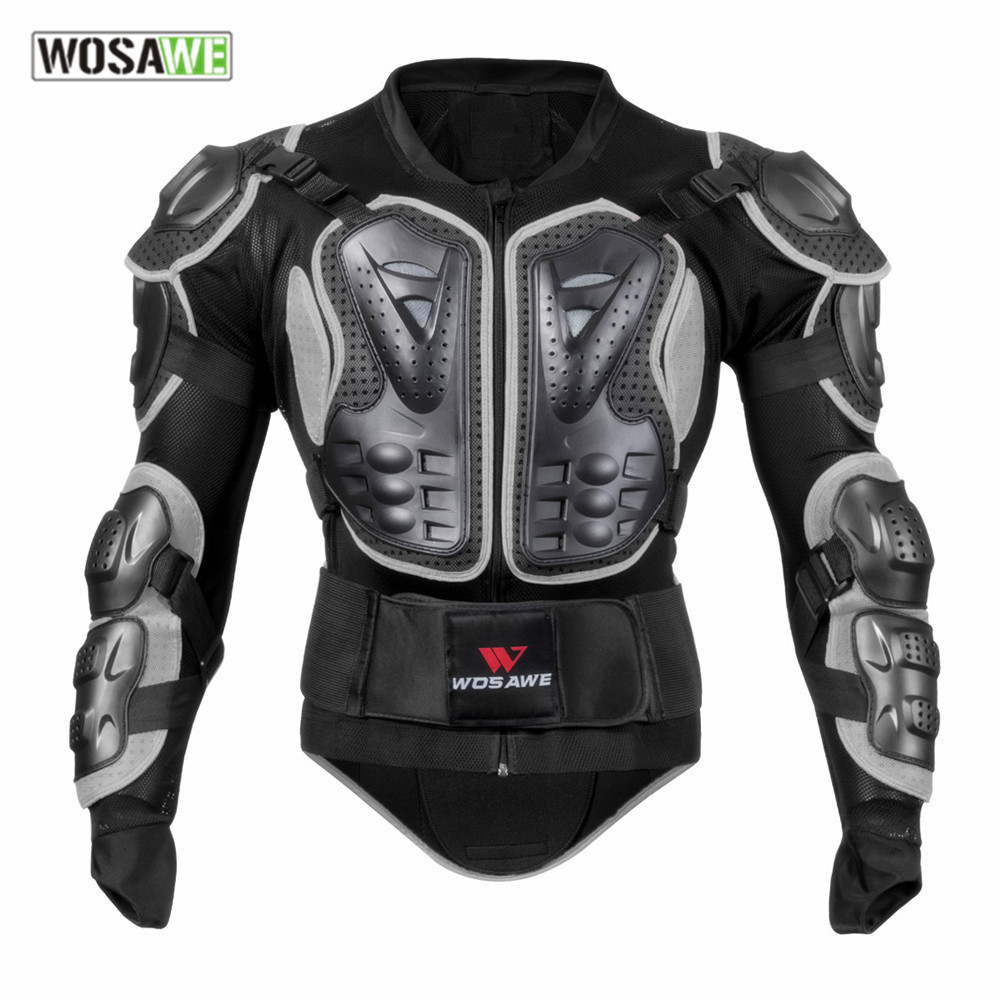 WOSAWE Men Motorcycle Armor Men Sports Protective Gear Back Support Body Armor Clothing Sportwear Riding Motorcycle Jackets herobiker armor removable neck protection guards riding skating motorcycle racing protective gear full body armor protectors