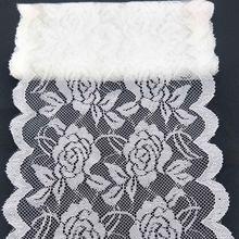 2 metros Alta Qualidade Bonita Do Laço Branco Fita Fita 150 MILÍMETROS Guarnição Do Laço DIY Bordado Para Decoração De Costura Do Laço Africano tecido