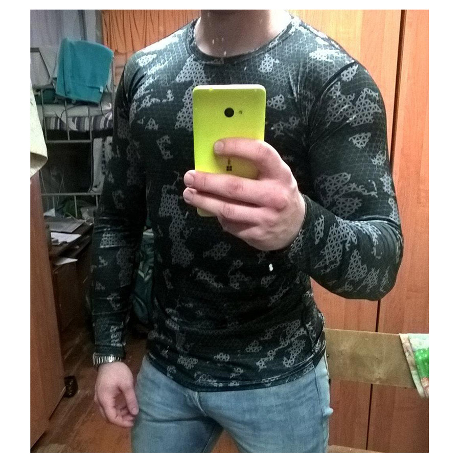 Compression Sport Shirt Men Long Sleeve Camouflage Fitness 3D Quick Dry Men's Running T-shirt Gym Workout Clothing Top Rashgard 4
