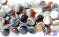 "Wholesale Natura Genuine Botswana Agate Rainbow Onyx Agate Flat Coin Disc Loose Beads 4-16mm Fit Jewelry DIY Necklace 15"" 0798"