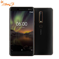 Nokia 6 2018 Second generation 2th TA 1054 4G 64G Android 7 Snapdragon 630 Octa core 5.5'' FHD 16.0MP 3000mAh Mobile phone