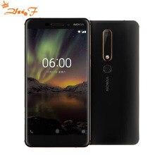 """Nokia 6 2018 Deuxième génération 2ème TA-1054 4G 32G 64G Android 7 Snapdragon 630 Octa core 5.5 """"FHD 16.0MP 3000 mAh Mobile téléphone"""