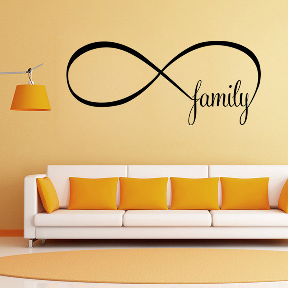 Personality 22*50CM Bedroom Wall Stickers Decor Infinity Symbol Word ...