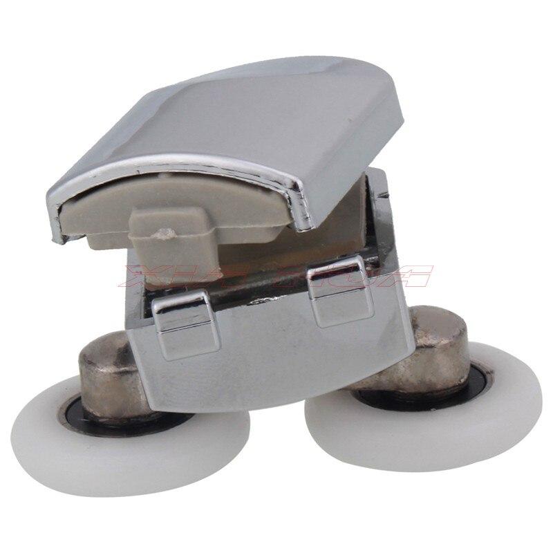 2 stcke 55x23mm zinklegierung duschtr frhling rollen bad schiebetr rollen duschtr frhling oberen roller in 2 stcke 55x23mm zinklegierung duschtr - Duschtur Rollen