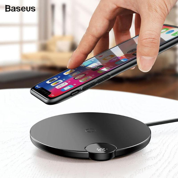 Baseus Digital Display Wireless Fast Charging Pad Charger for iPhone X XR XS XS Max Mobile Phone Wireless Charger Fast Charger