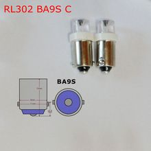 Free shipping (50pcs/lot)12V  BA9S H6W concave LED  cheap auto led light bulbs stable quality  machine working bulbs RL302