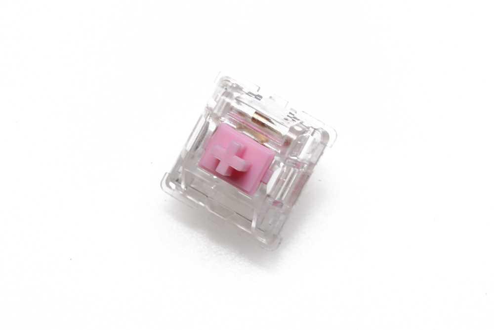 EVERGLIDE INTERRUTTORE Sakura Rosa Giada Verde Corallo Rosso Ambra Oran mx stelo con trasparente custodia trasparente Per tastiera Meccanica 5pin