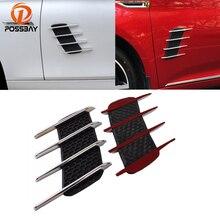 Posbay Универсальный ABS Авто Акула решетка наклейка автомобильный воздушный Впускной поток капот Вентиляционное крыло Украшение Наклейка s для Nissan VW BMW Opel