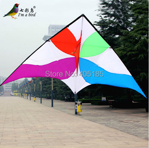 Free Shipping Outdoor Fun Sports Power Delta Kite Windmill Umbrella Cloth Resin Rod Is Easy To Fly