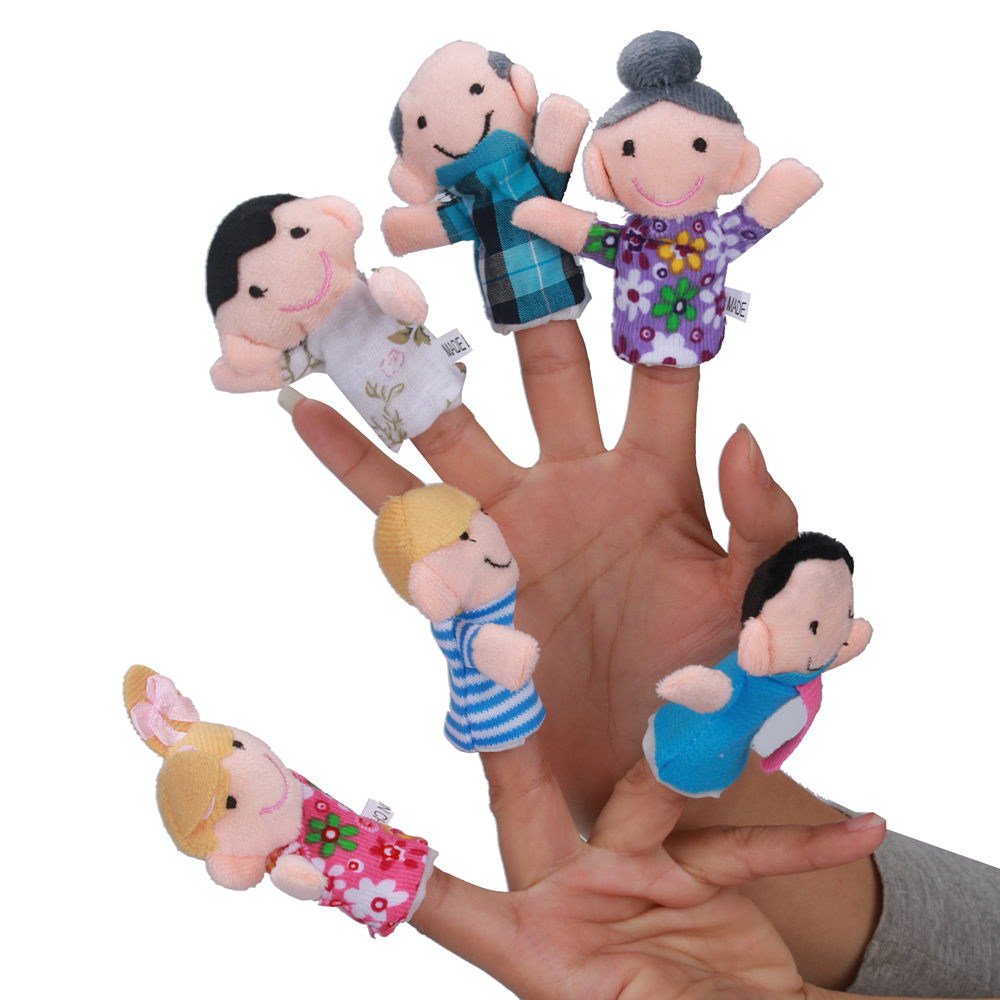 2019 New Hot Sale New 6 Pcs Finger Even Storytelling Good Toys Hand Puppet For Baby's Gift Dropshipping Wholesale Fun New Story