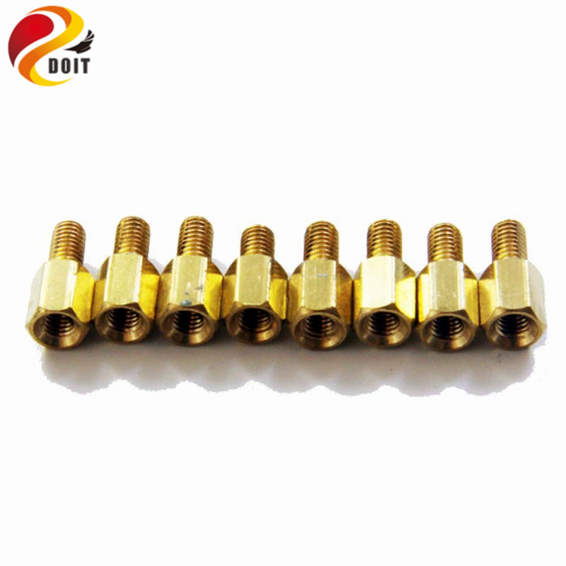 Official DOIT Copper Pillar M3 5mm 5mm Robot Screw Wheel Steering Gear Accessory Part Fixed Frame Bracket DIY RC Electronic Toy