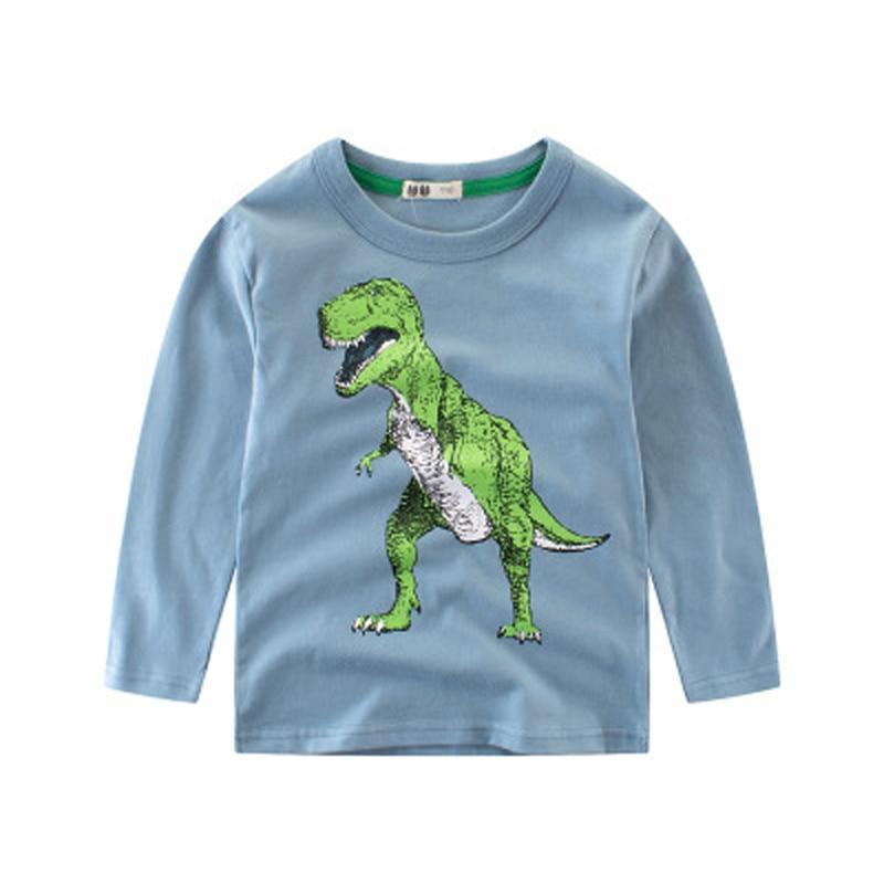 Kids T-shirts Boy long sleeve top tee children sweatshirt cotton t shirt for boys cartoon outwear Boys Clothes dinosaur t-shirts