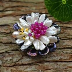 Amxiu на заказ натуральный жемчуг брошь шпильки двойного назначения Кулон позолоченный цветок броши украшения для женское платье аксессуары
