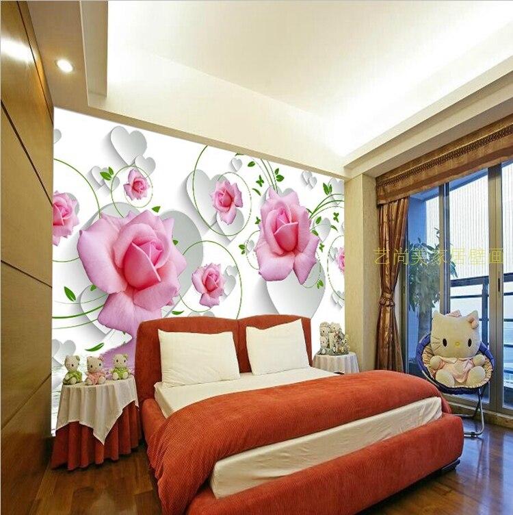 rosen tapete-kaufen billigrosen tapete partien aus china rosen ... - Rosentapete Schlafzimmer