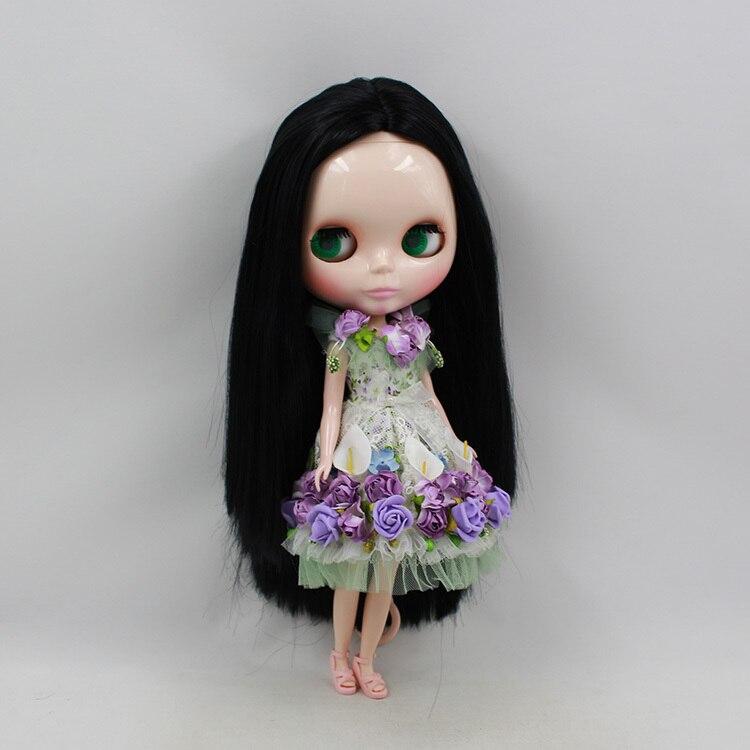 Oyuncaklar ve Hobi Ürünleri'ten Bebekler'de Blythe Doll Çıplak Bebek Serisi No.230BL9601 siyah Saç Için Uygun DIY Değişim Oyuncak Kızlar Için'da  Grup 1
