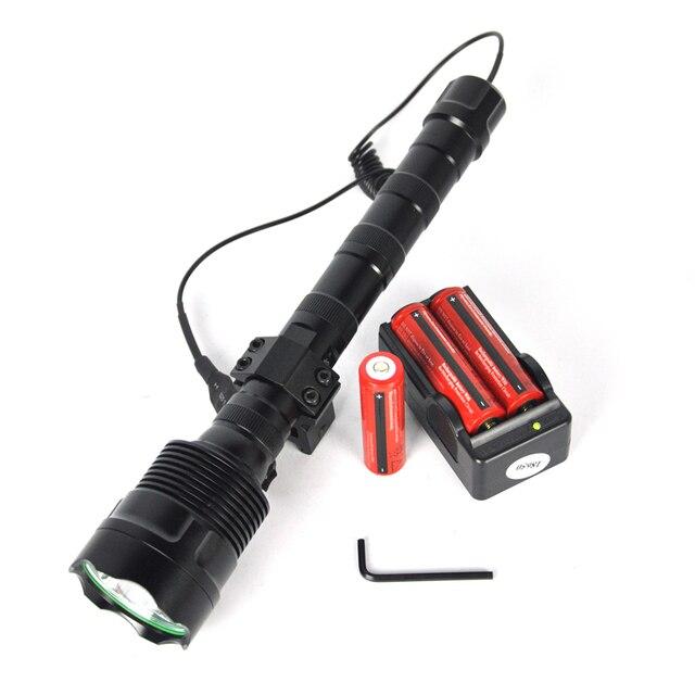 Мощный 6000Lm 3T6 Фонарик 5 Режим Тактический lanterna Факел Проблескового света СИД + Аккумулятор + Зарядное Устройство + Пульт Дистанционного Управления + Артиллерийская установка
