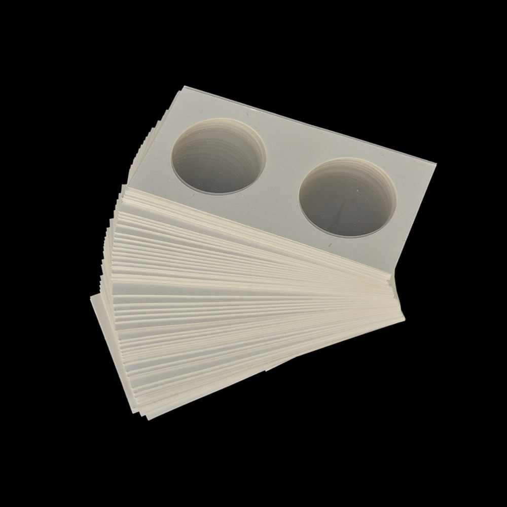 50 Uds., porta monedas cuadradas de cartón, suministros para monedas, colección de albúm de monedas de 35mm, estampilla de Faro, soporte para monedas, estuche de almacenamiento