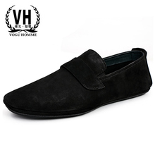 Mens real leather driving loafer shoes breathable casual cowhide men natural loafers spring autumn